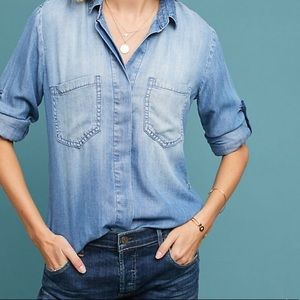 Anthropologie cloth + stone chambray button down.